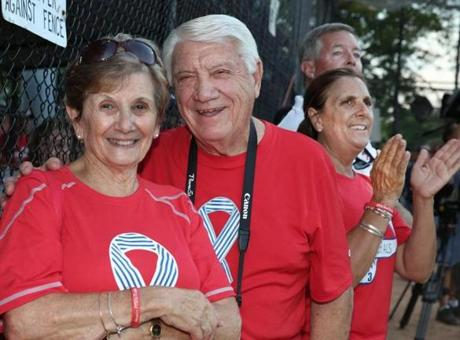From left: Joan and Jerry D'Alfonso and Nancy and Jack Frates, all of Beverly.